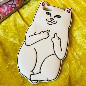 Lord Nermal Cat Flipping Off silicon phone case